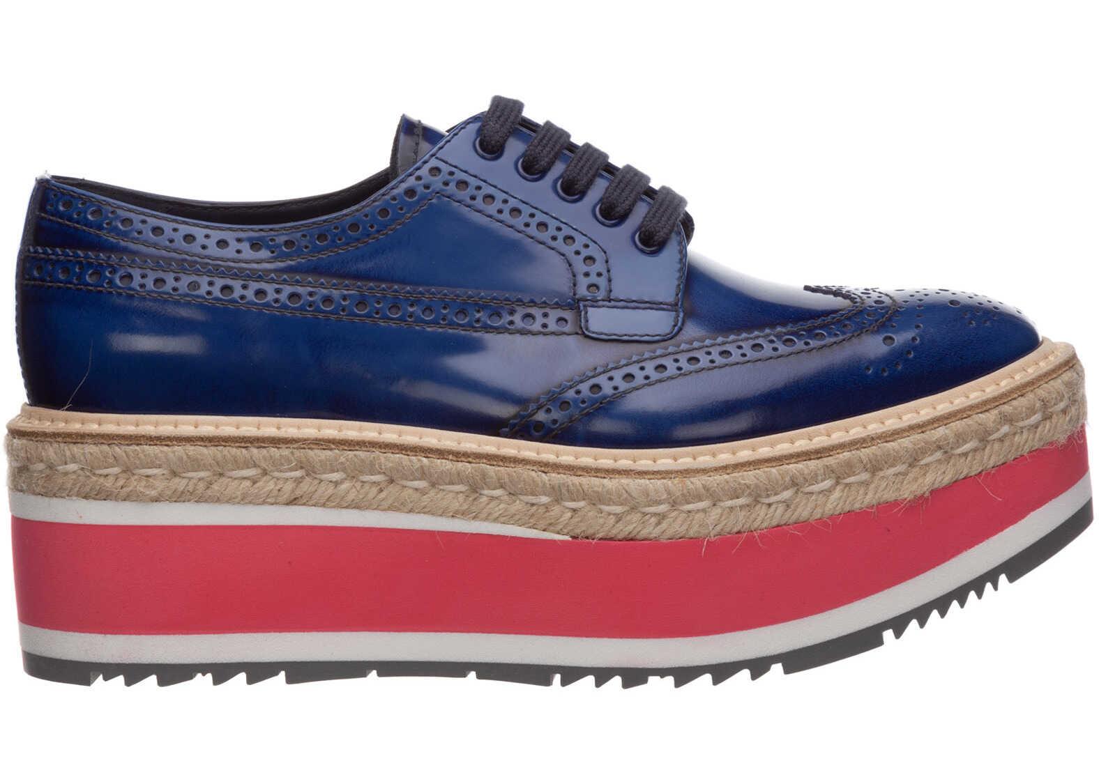 Prada Shoes Derby Blue