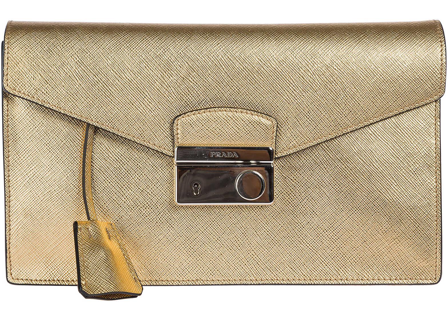 Prada Bag Purse Gold