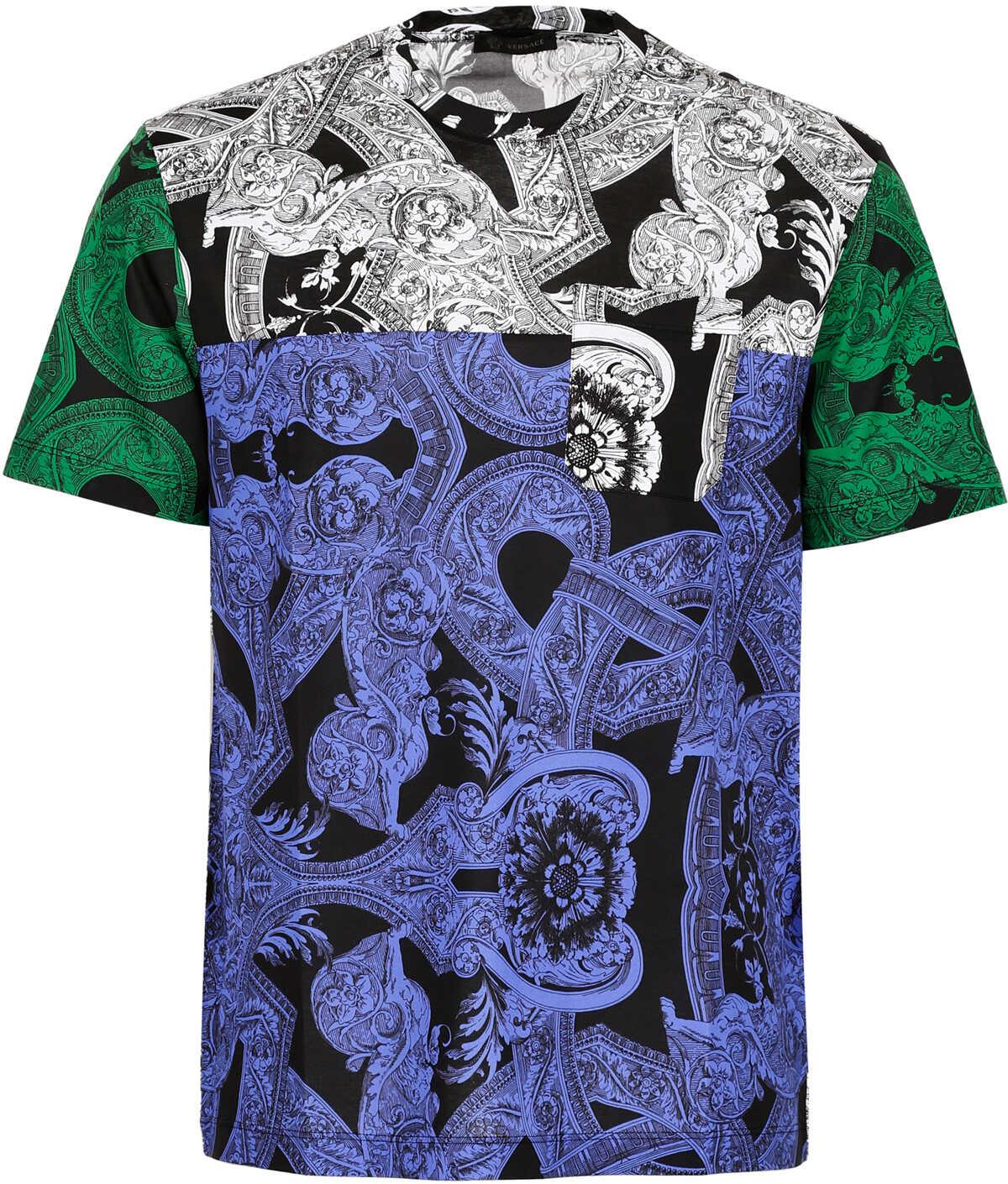 Versace Printed T-Shirt NERO-BIANCO