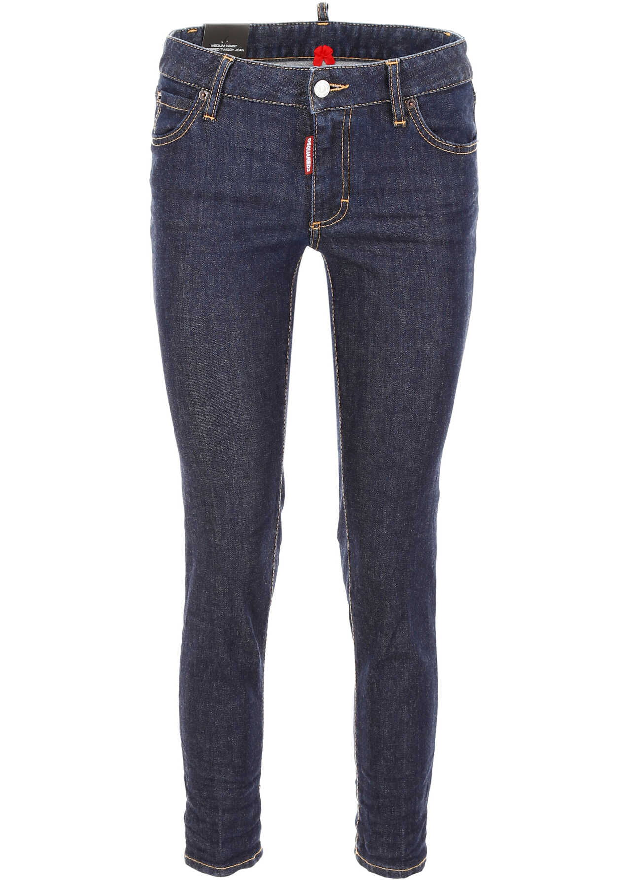 DSQUARED2 Cropped Twiggy Jeans BLUE DENIM