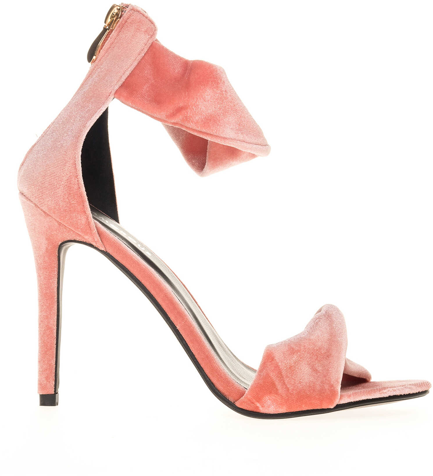 Glamorous Womens Pink High Heel Sandals With Zip Dusty Pink