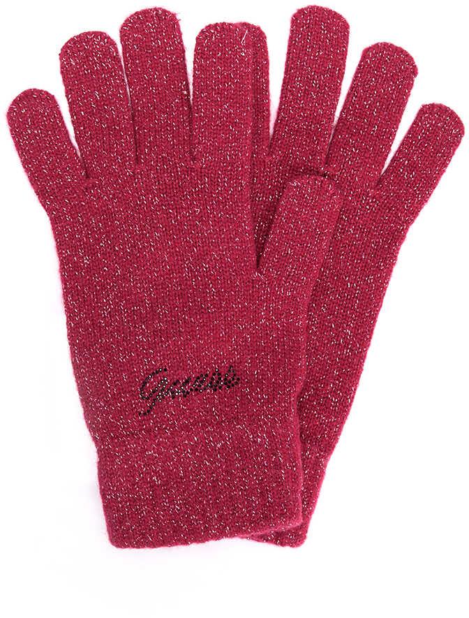 GUESS Rękawiczki Fioletowy