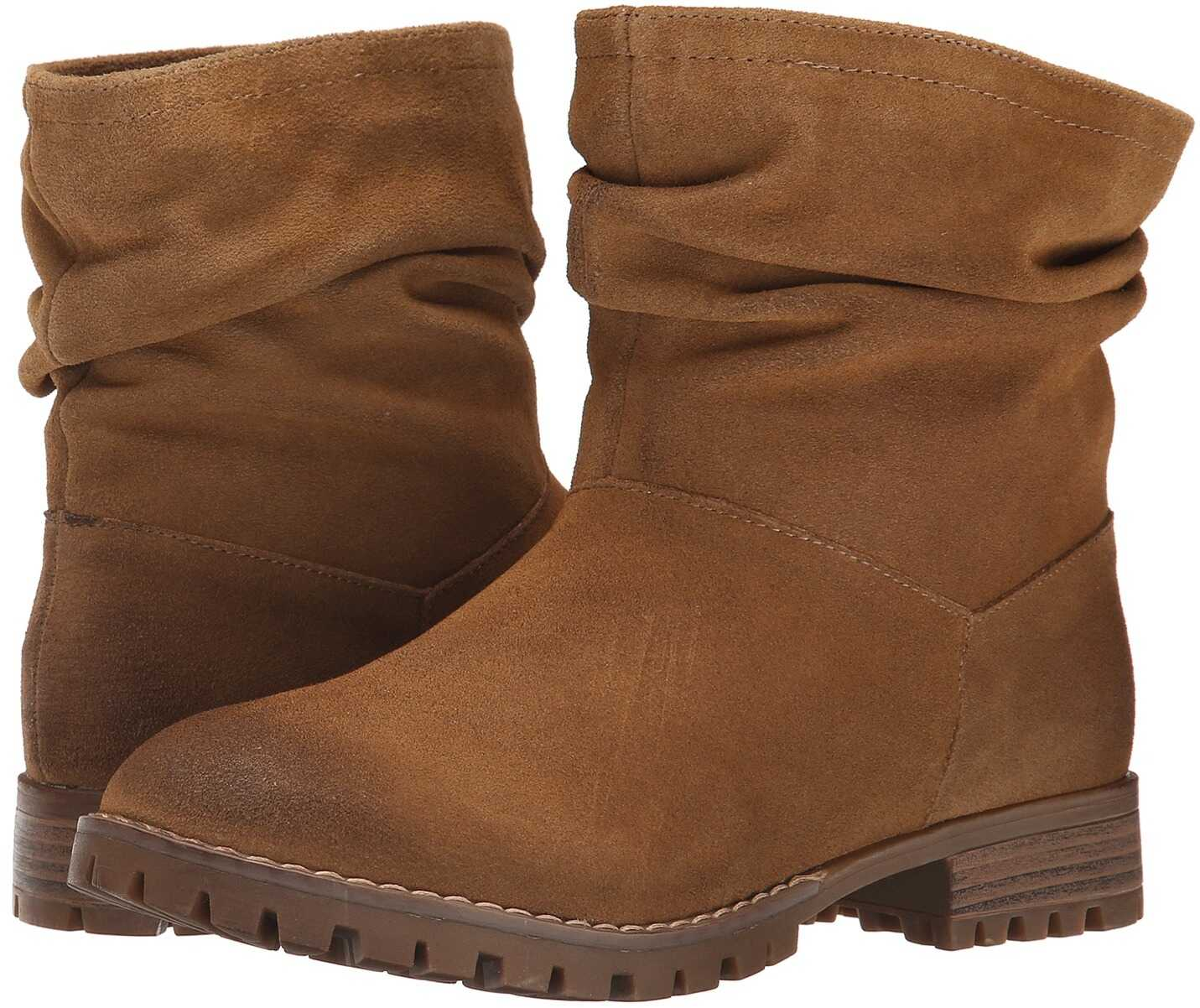 Chinese Laundry Flip Slouch Bootie Dark Camel Burnished