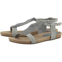 Sandale Women's Grey Anatomical Sandals With Strass Femei