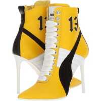 Botine High Heel Leather Rihanna Femei
