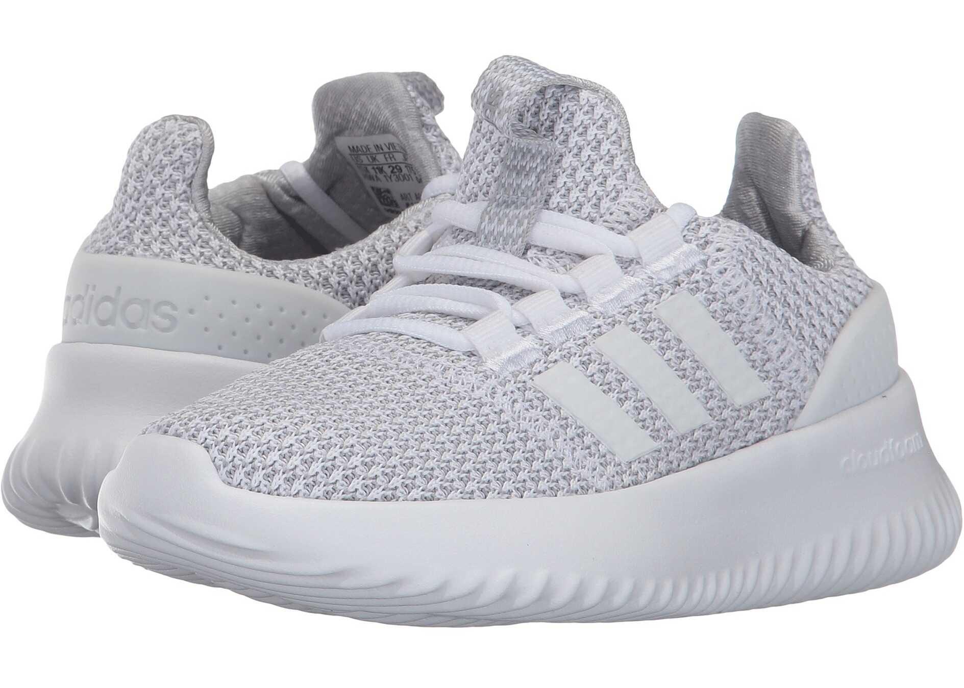 adidas Kids Cloudfoam Ultimate (Little Kid/Big Kid) Footwear White/Footwear White/Grey Two