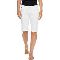 Pantaloni Scurti Denim Bermuda Shorts in White Femei