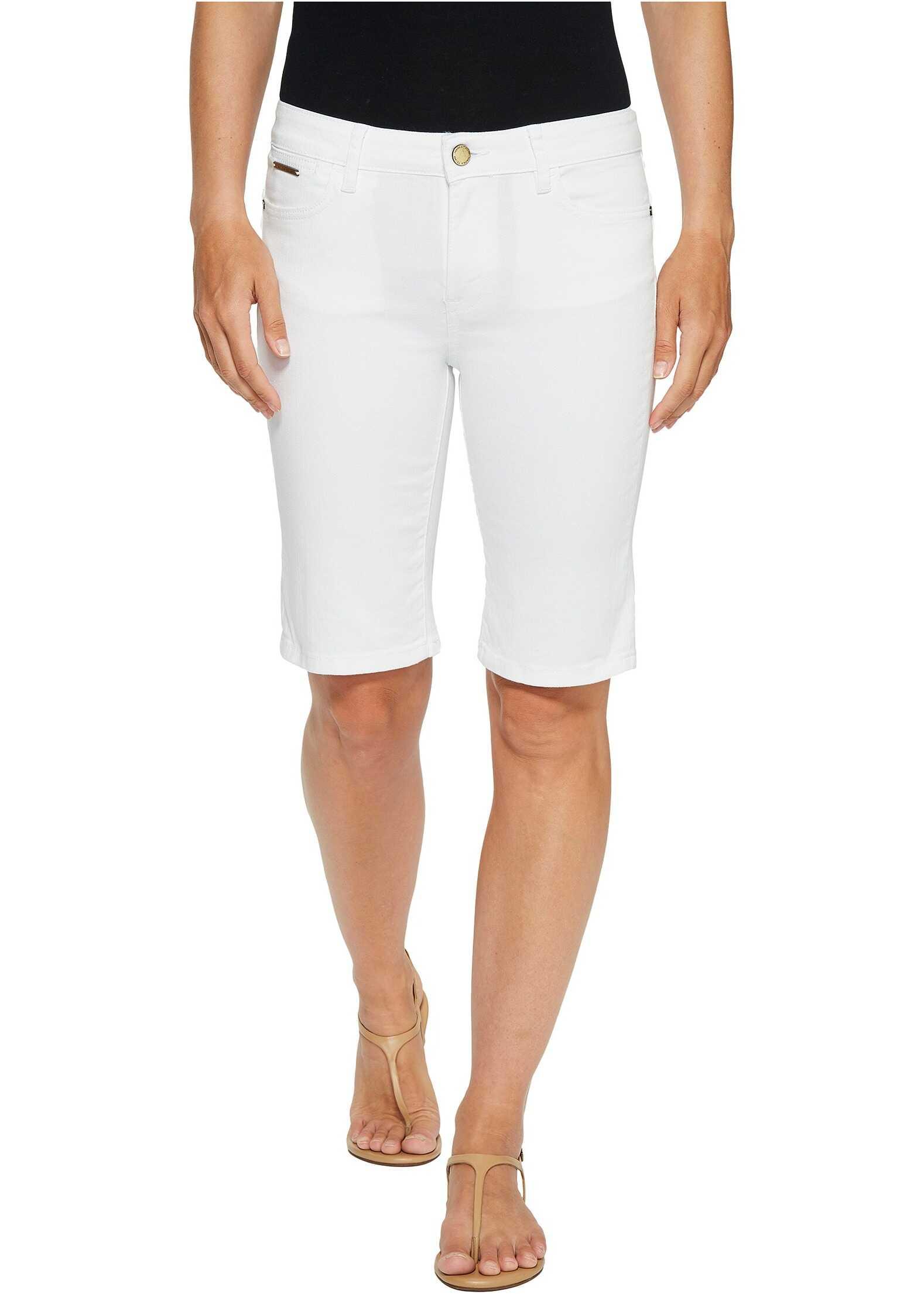 Ivanka Trump Denim Bermuda Shorts in White White