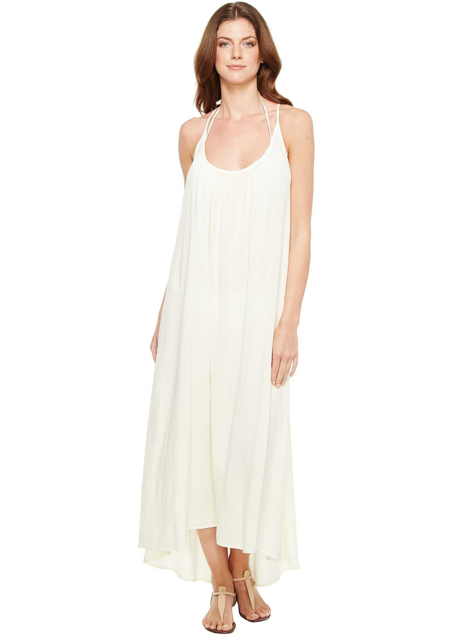 Vince Camuto Fiji Solids Racerback Maxi Dress Cover-Up Shell