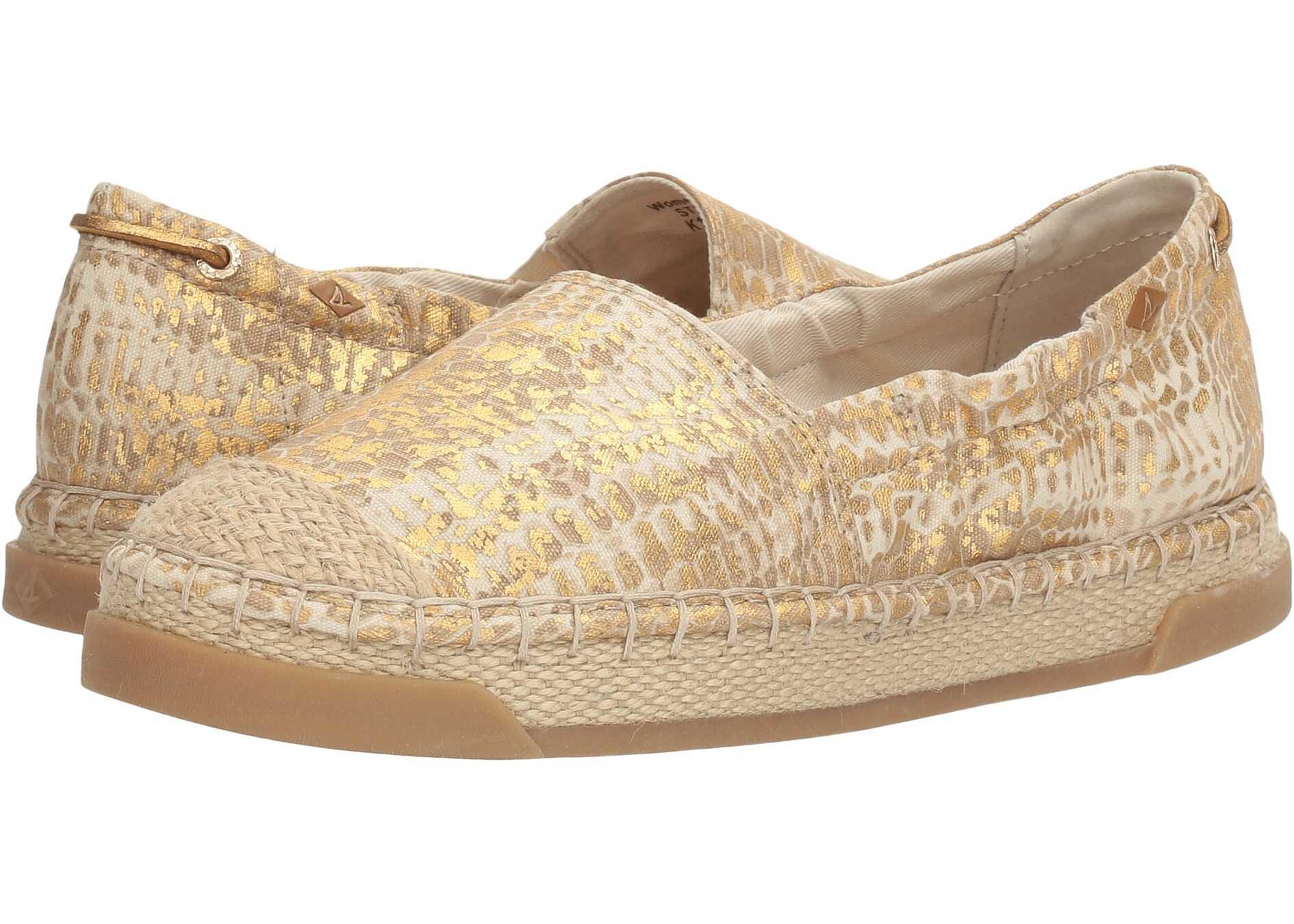 Sperry Top-Sider Laurel Reef Prints Linen/Gold Python