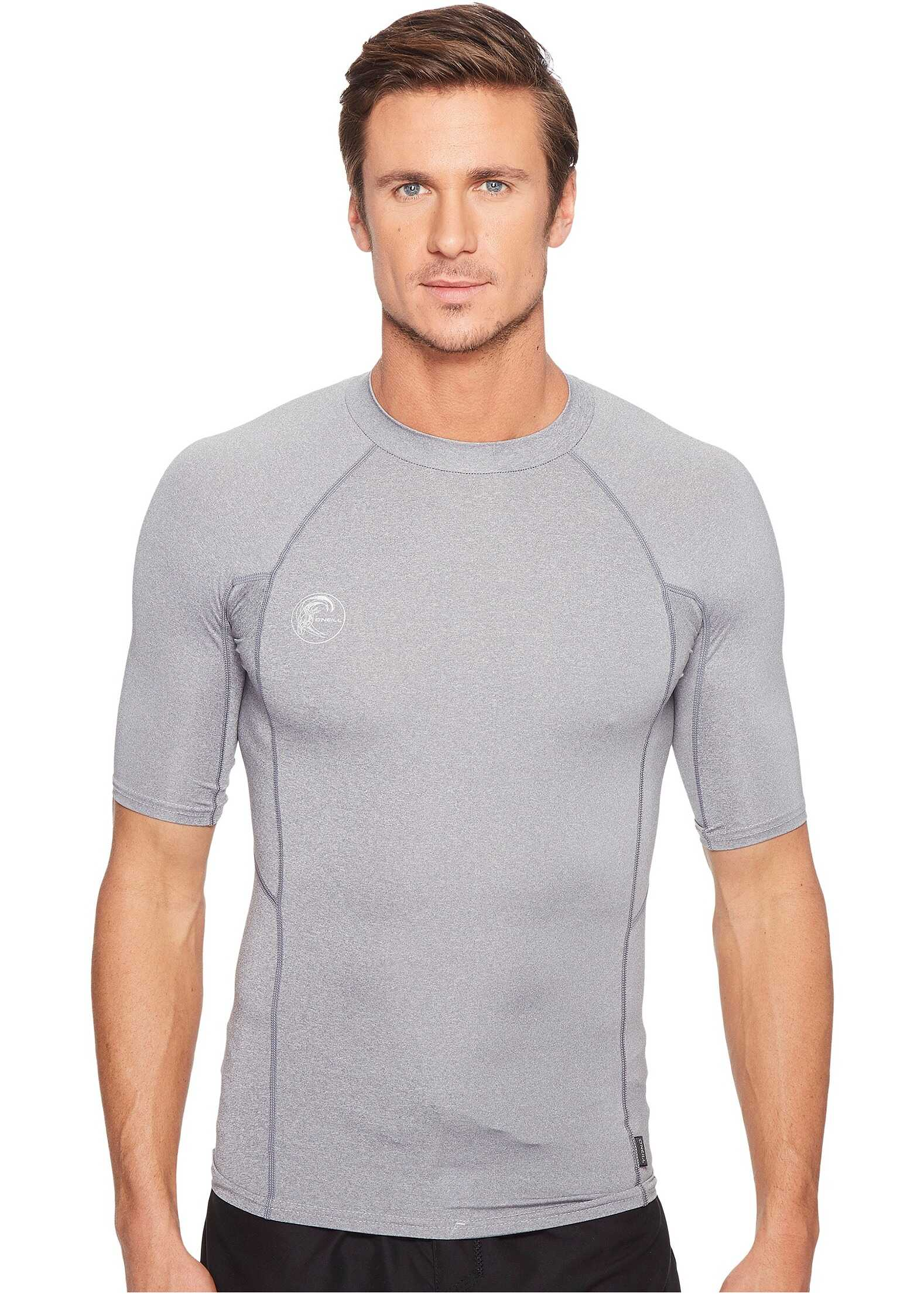 ONeill Hybrid Short Sleeve Crew Cool Grey