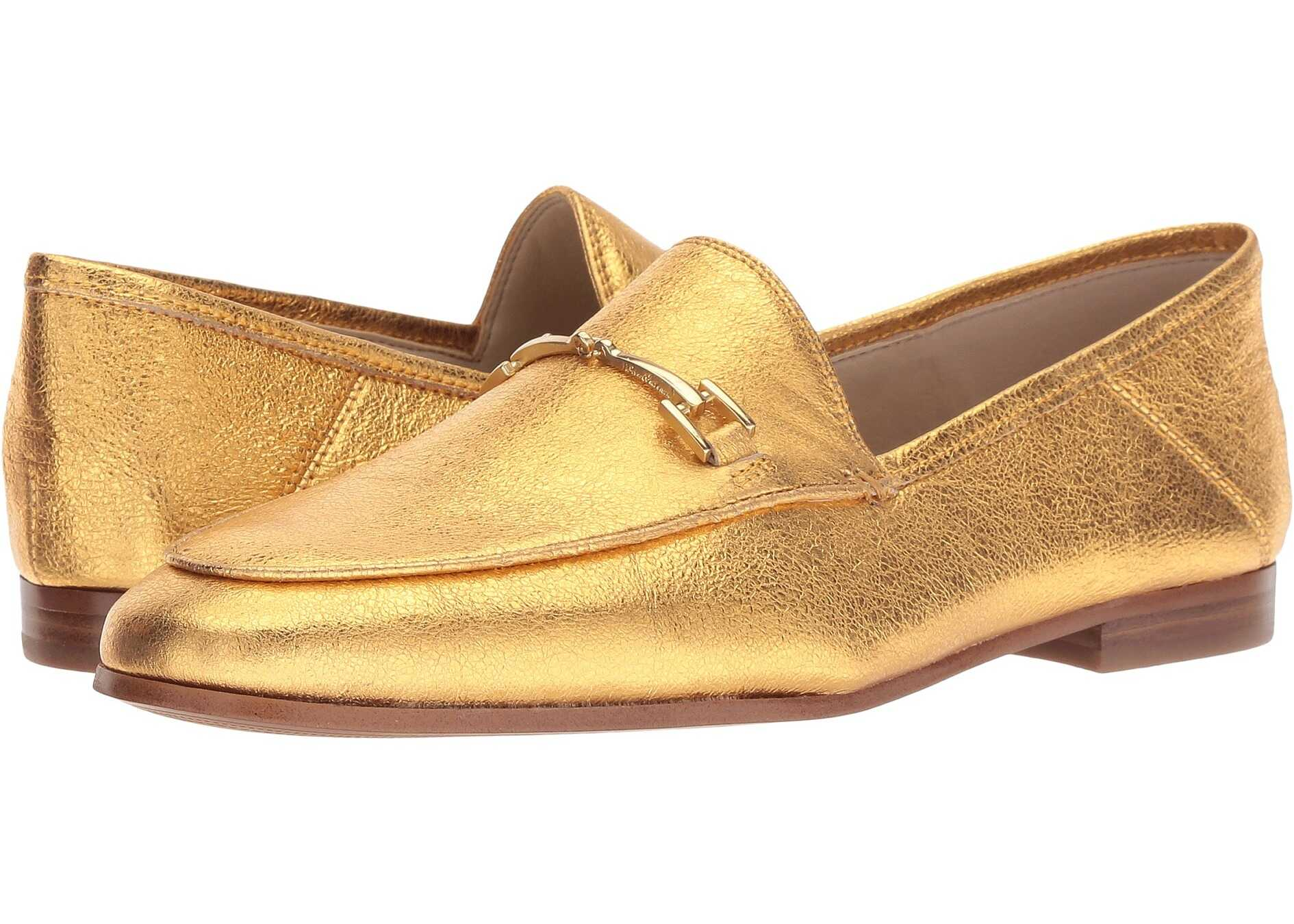 Sam Edelman Loraine Exotic Gold Soft Crinkle Metallic Leather