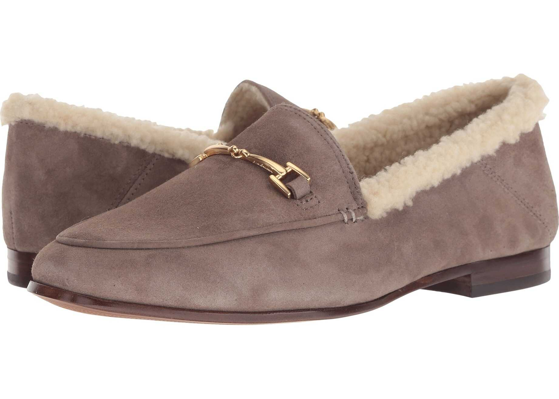 Sam Edelman Loraine Flint Grey/Natural Kid Suede Leather/Vegan Shearling Fur