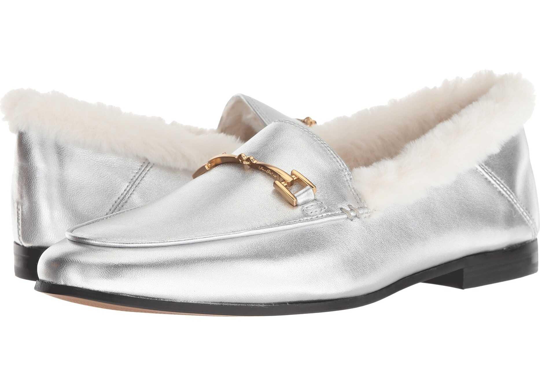Sam Edelman Loraine Soft Silver/Modern Ivory Soft Metallic Sheep Leather/Short Plush