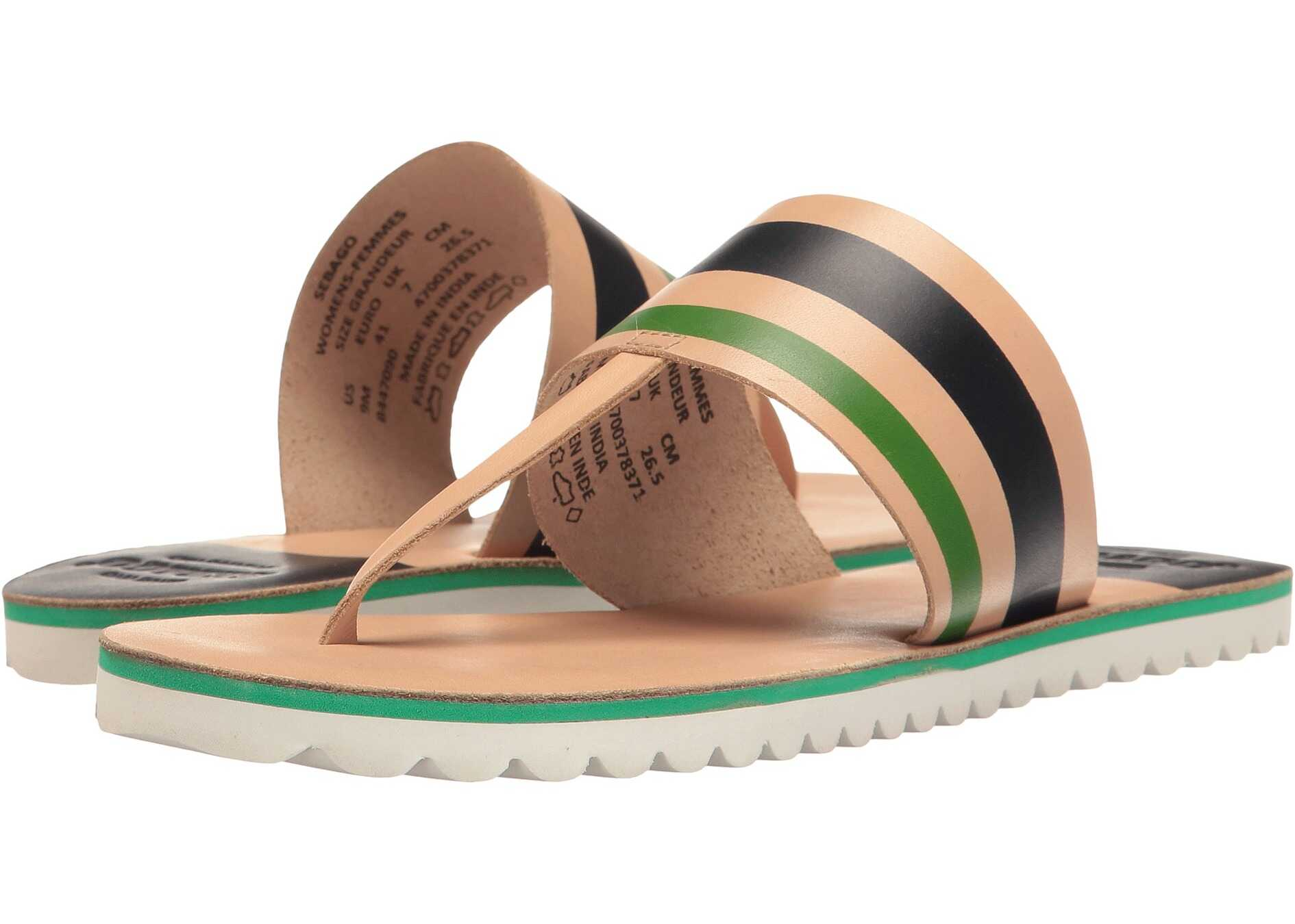 Sebago Sidney Instep Tan Leather/Navy Multi