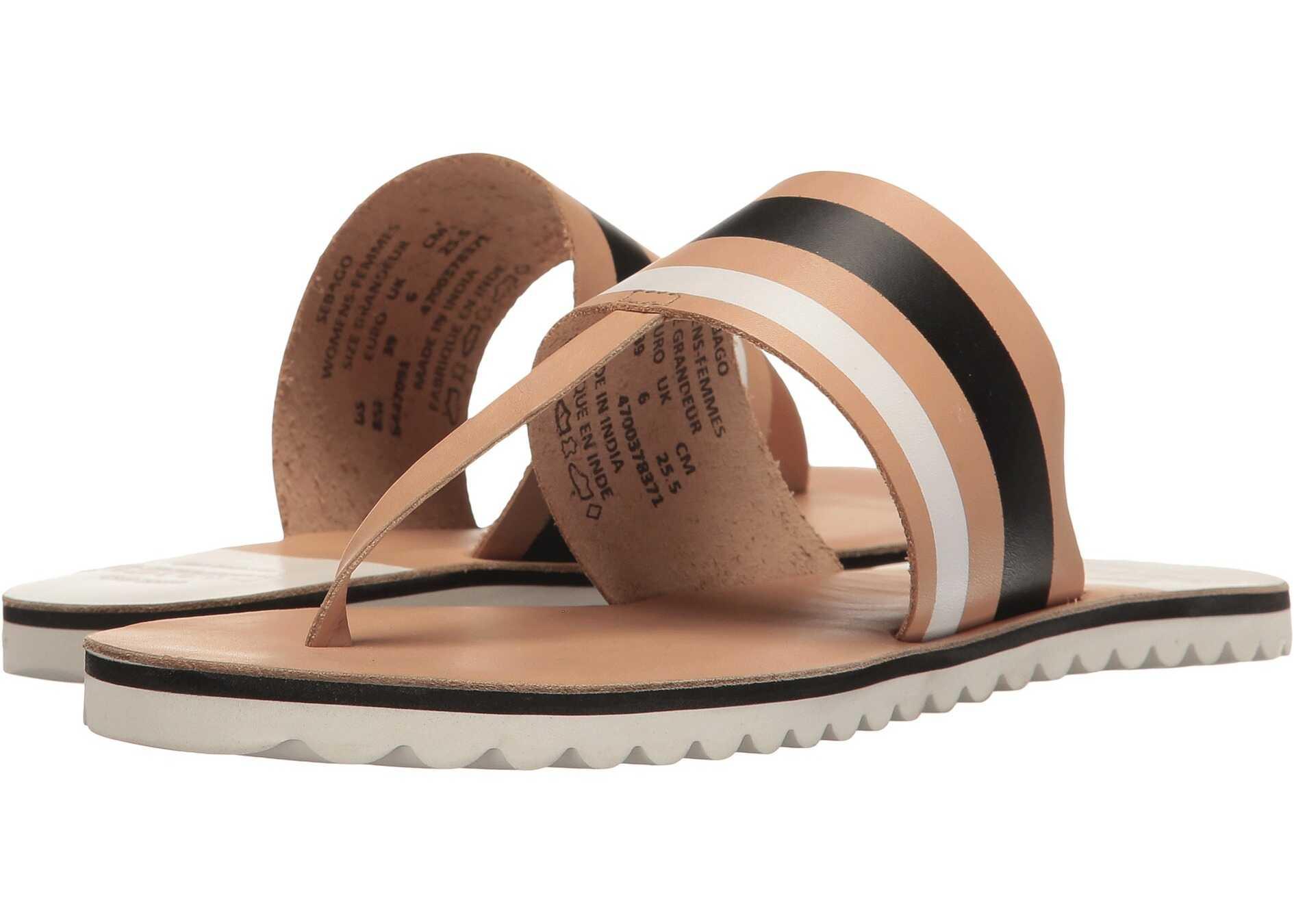 Sebago Sidney Instep Tan Leather/White Multi