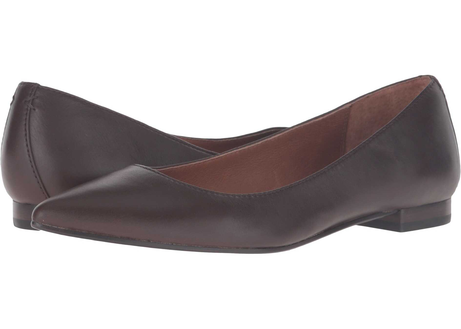 Frye Sienna Ballet Chocolate Soft Full Grain