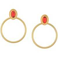Cercei Bright and Bold Hoops Earrings Femei