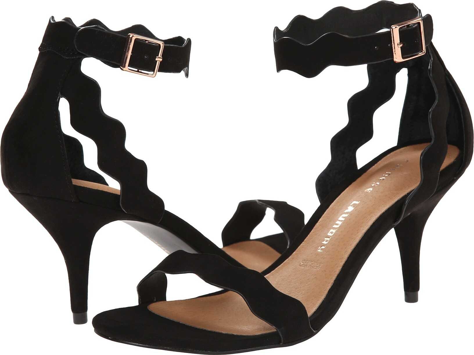 Chinese Laundry Rubie Scalloped Sandal Black Suede
