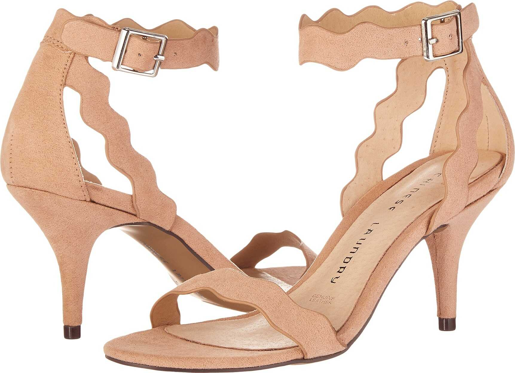 Chinese Laundry Rubie Scalloped Sandal Dark Nude Micro Suede