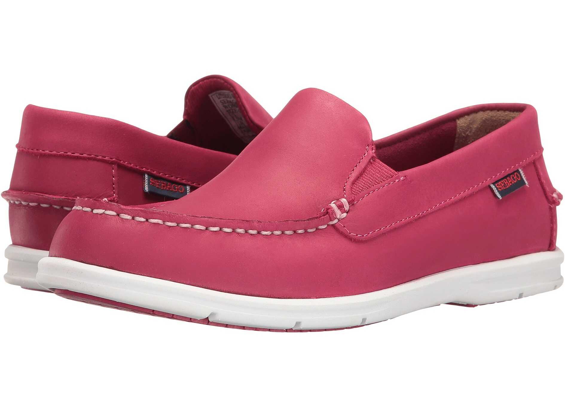 Sebago Liteside Slip-On Dark Pink Leather