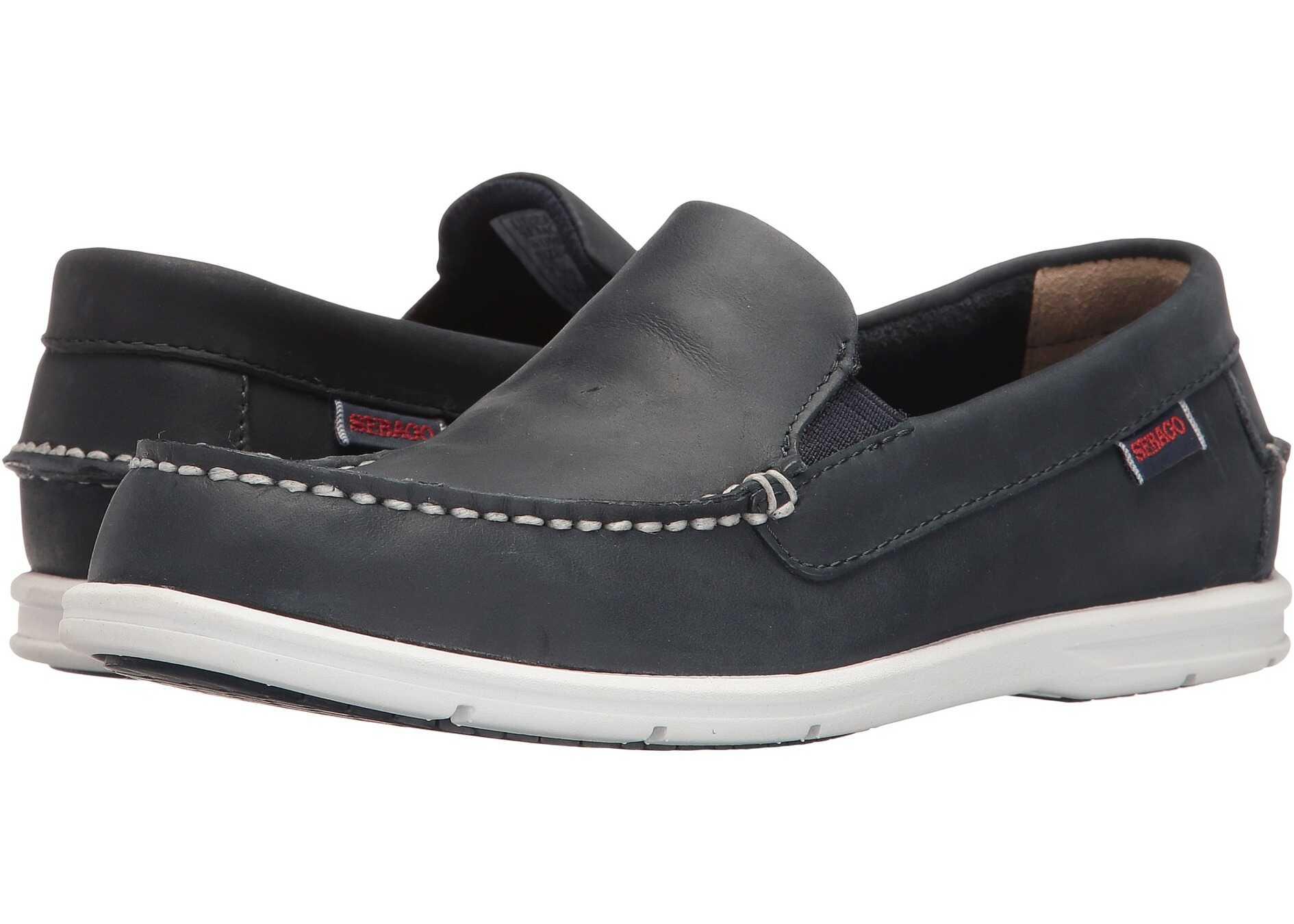 Sebago Liteside Slip-On Navy Leather