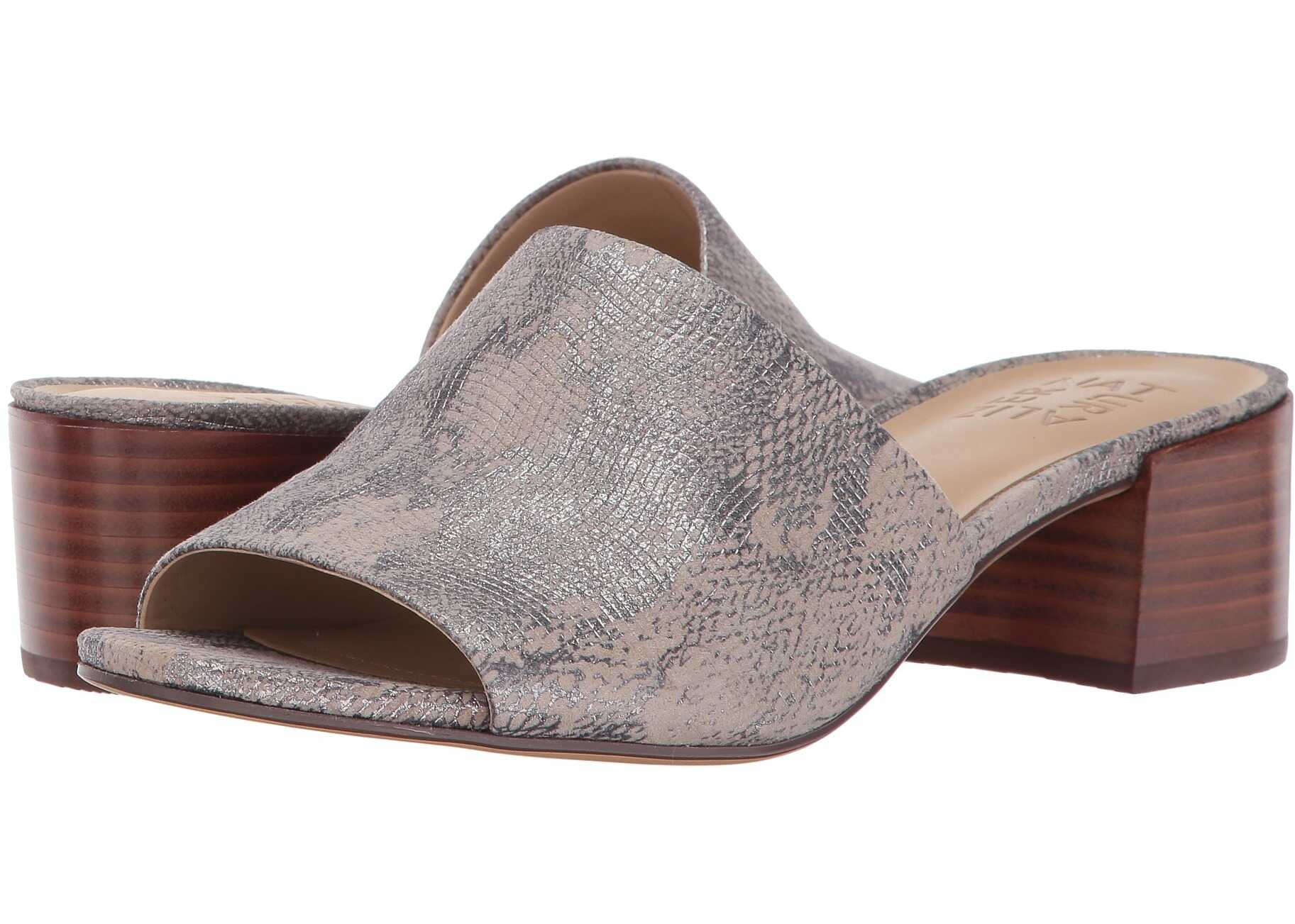 Naturalizer Fairley Silver Grey Metallic Snake Leather