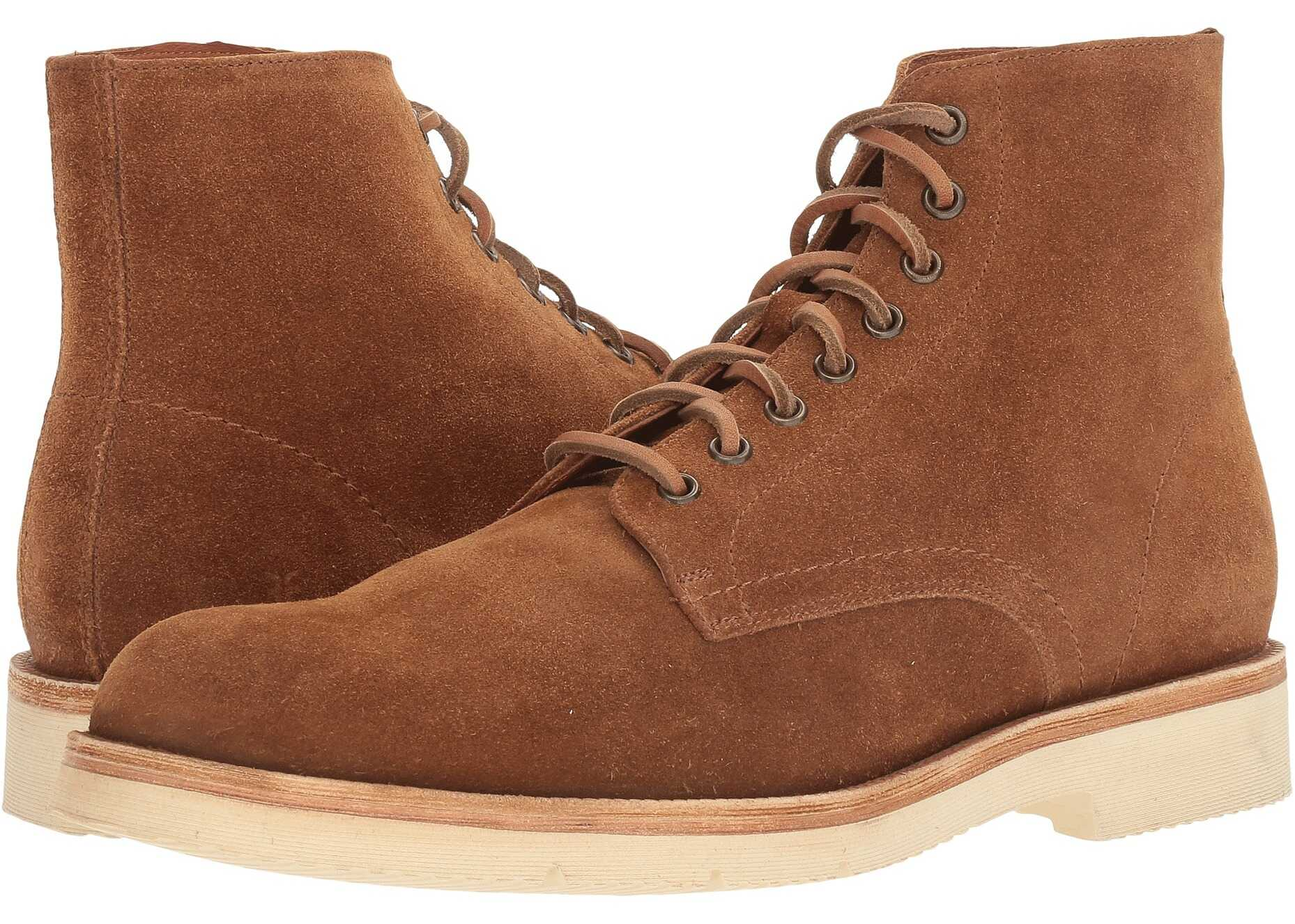 Frye Eric Lace-Up Copper Oiled Suede