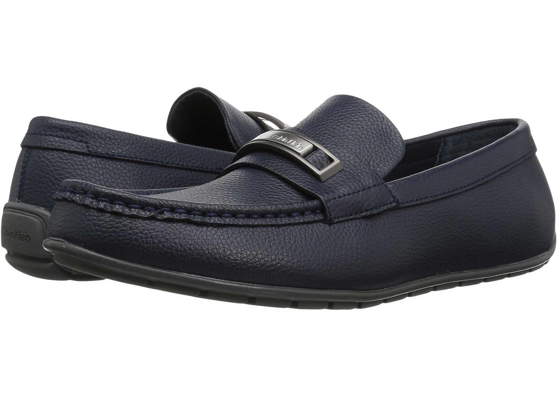 Calvin Klein Irving Dark Navy Tumbled Leather