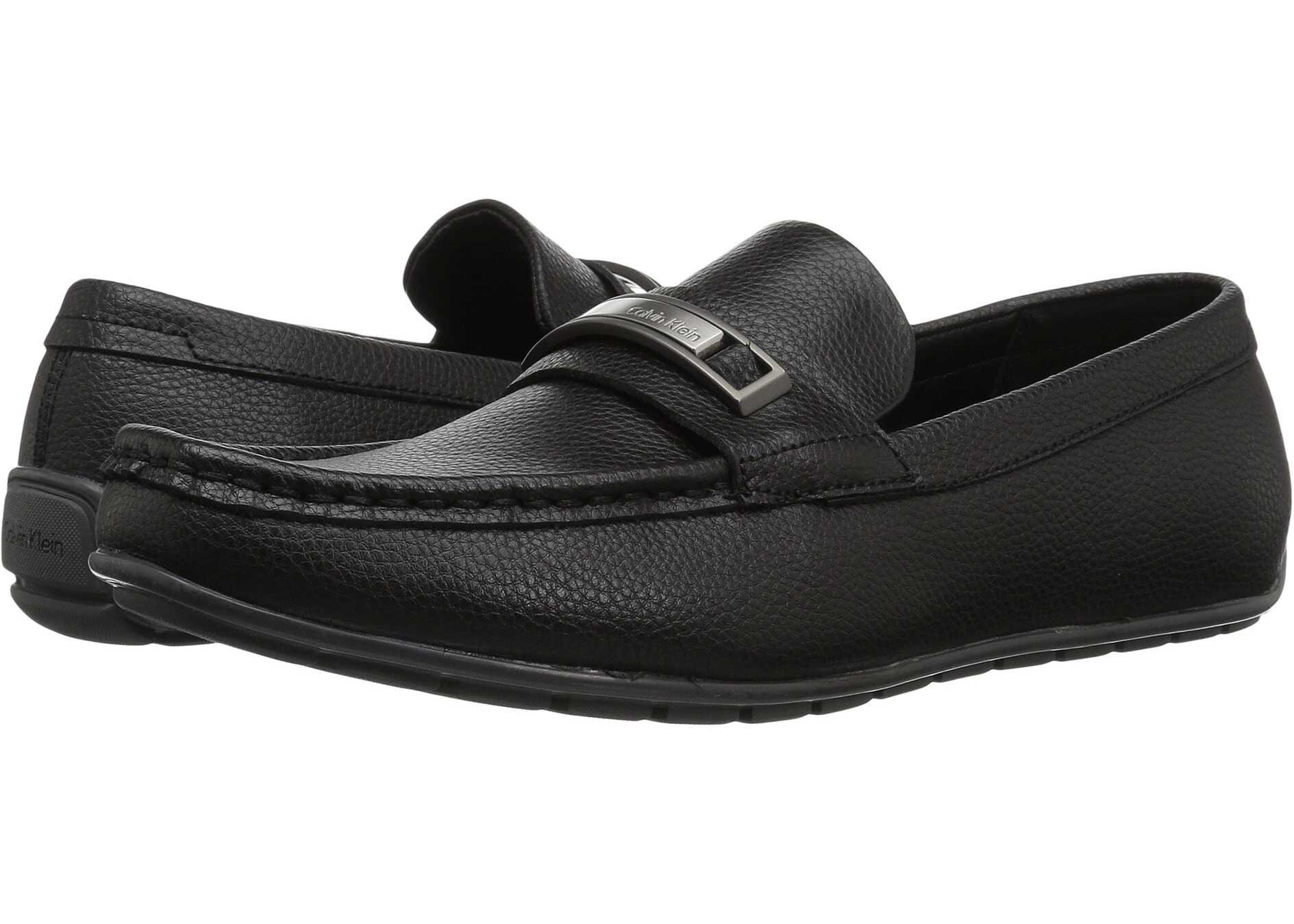 Calvin Klein Irving Black Tumbled Leather