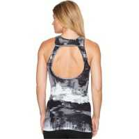 Maiouri Printed Open Back Tank Top Femei