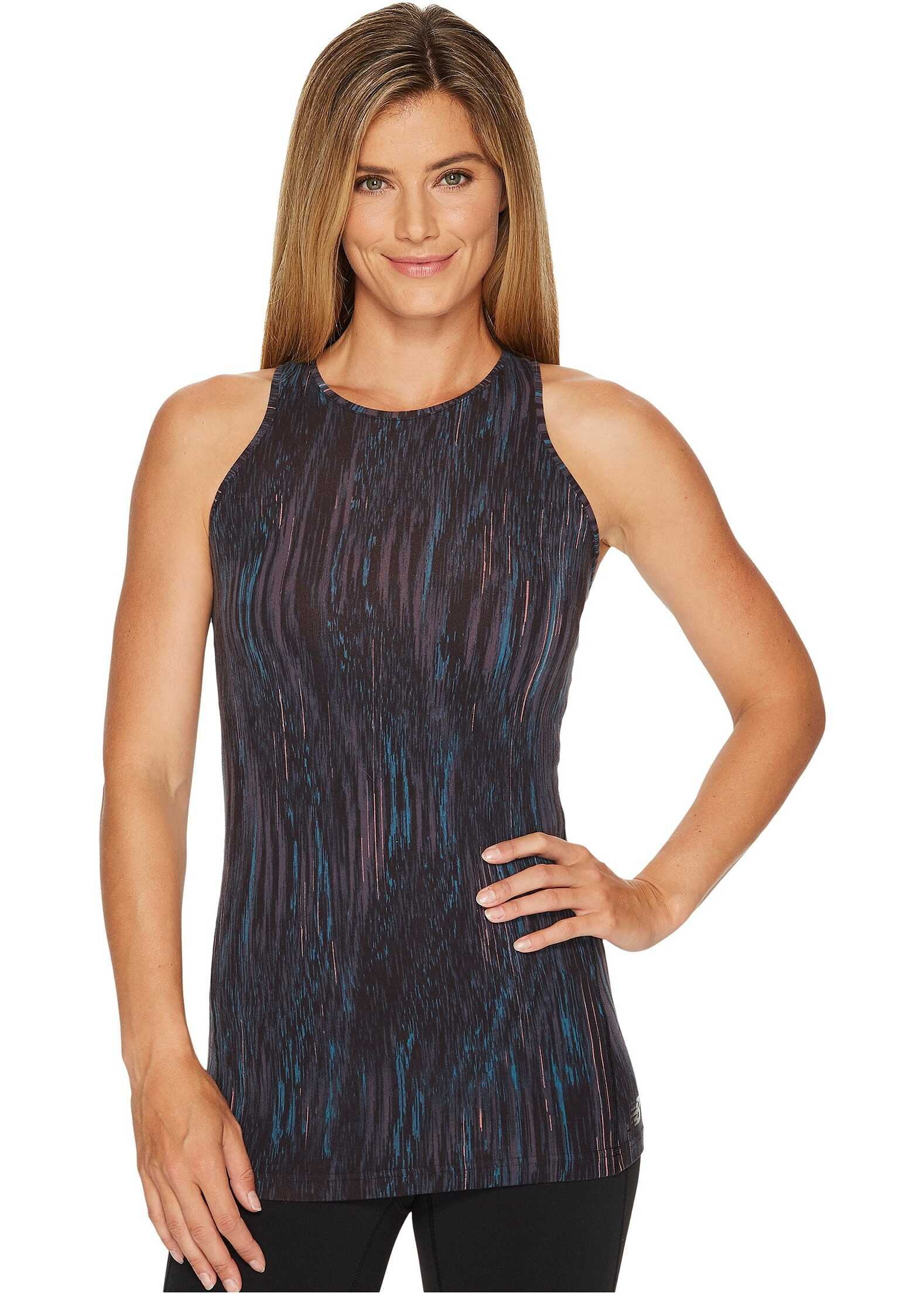 New Balance Printed Open Back Tank Top Radiant Wave Print