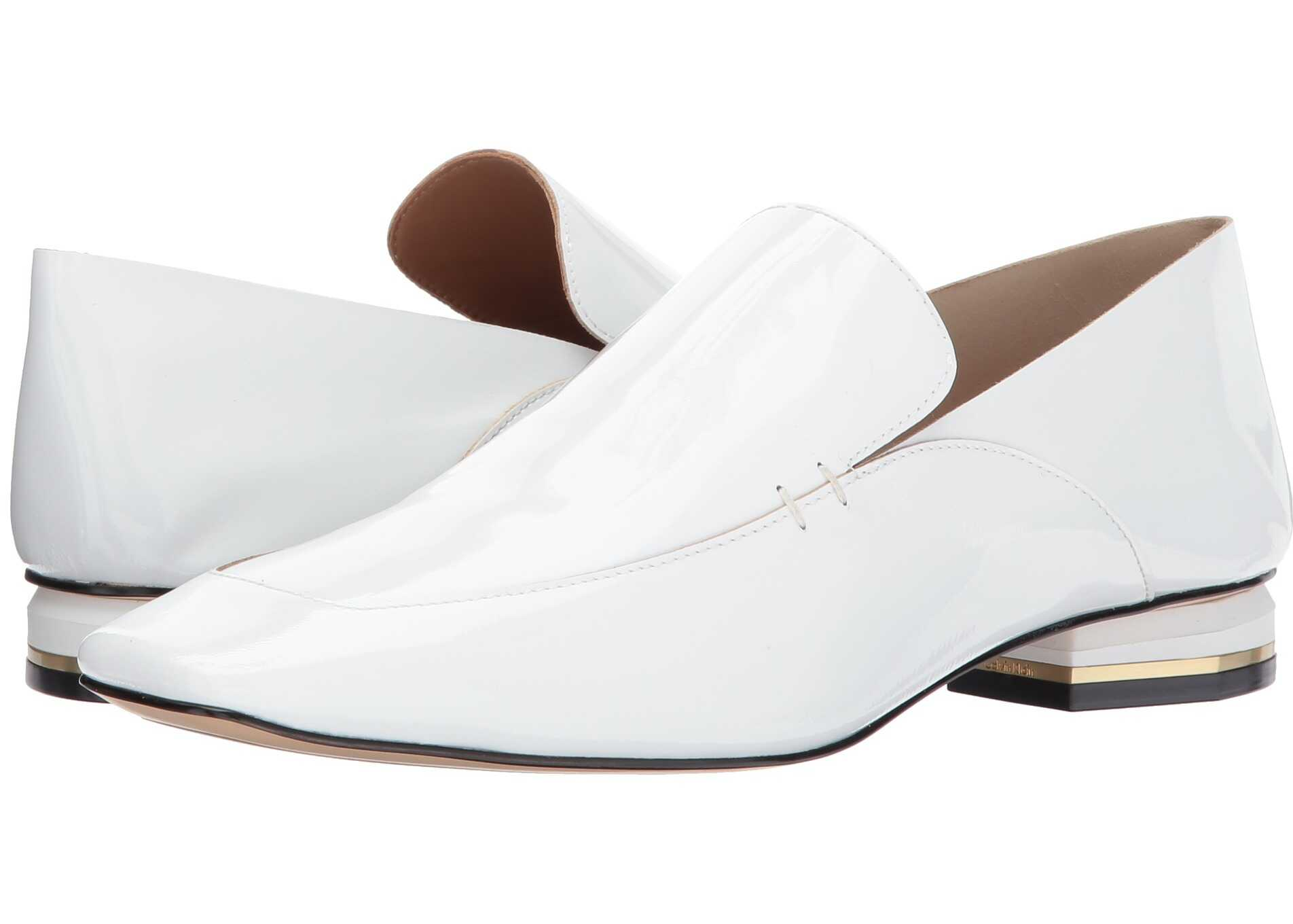 Calvin Klein Bia White Soft Patent/Soft Patent Unlined