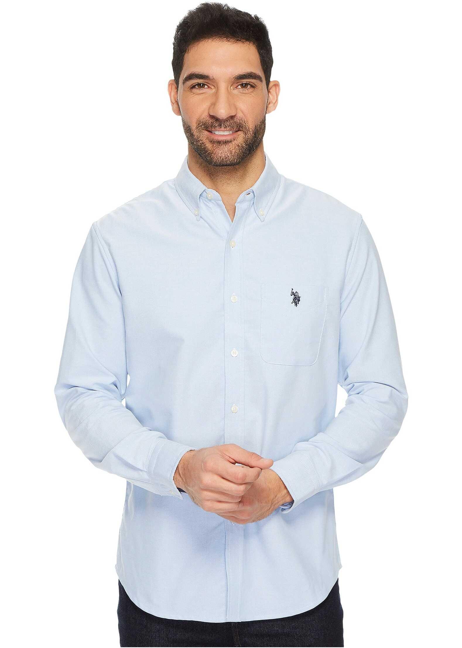 U.S. POLO ASSN. Classic Fit Long Sleeve Sport Shirt Light Blue