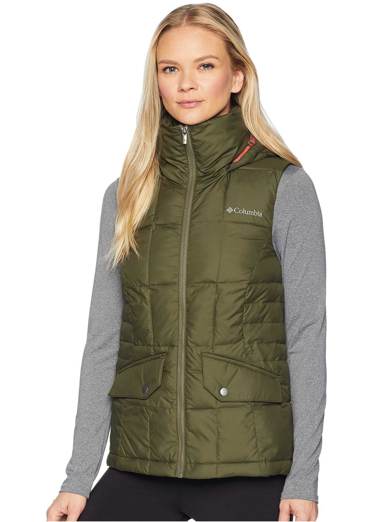 Columbia Lone Creek Hooded Vest Nori