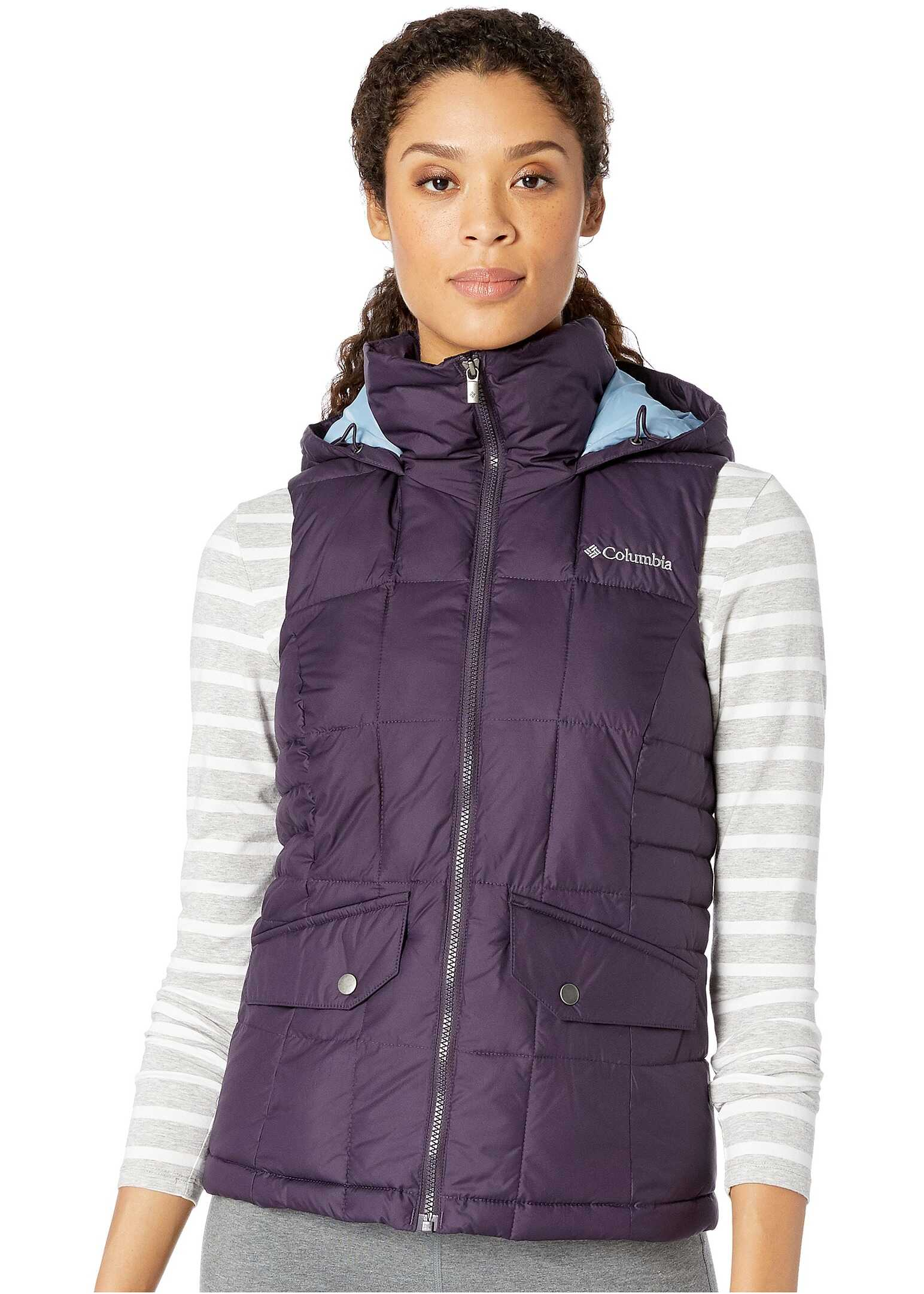 Columbia Lone Creek Hooded Vest Dark Plum
