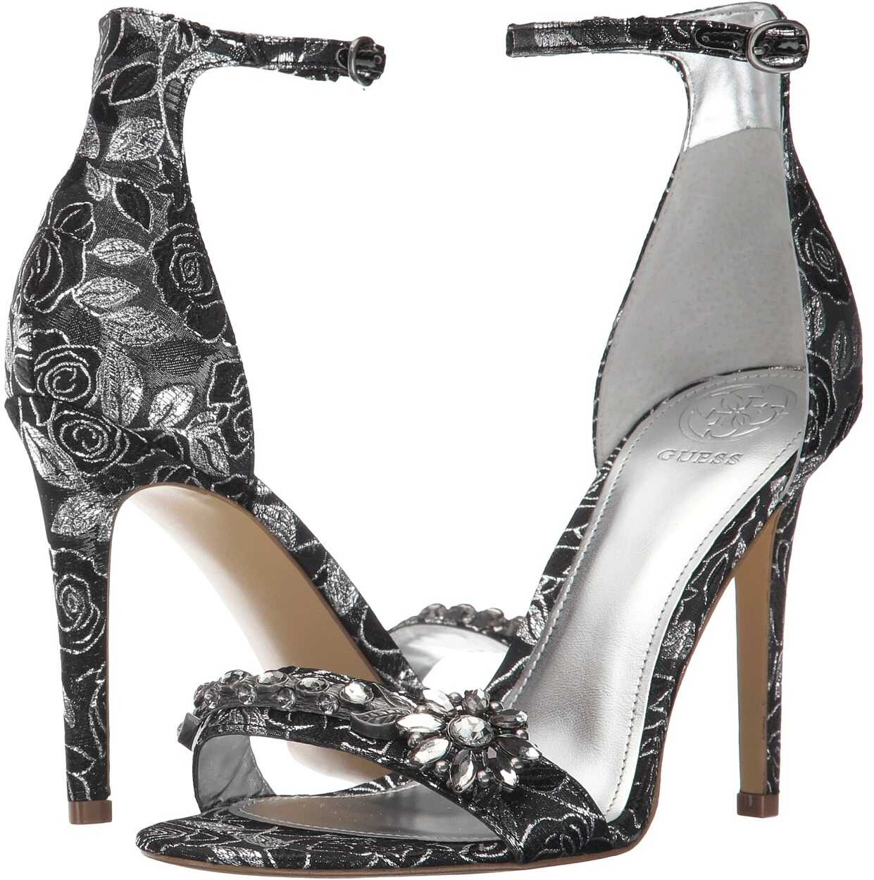 GUESS Partyer Silver/Black Fabric