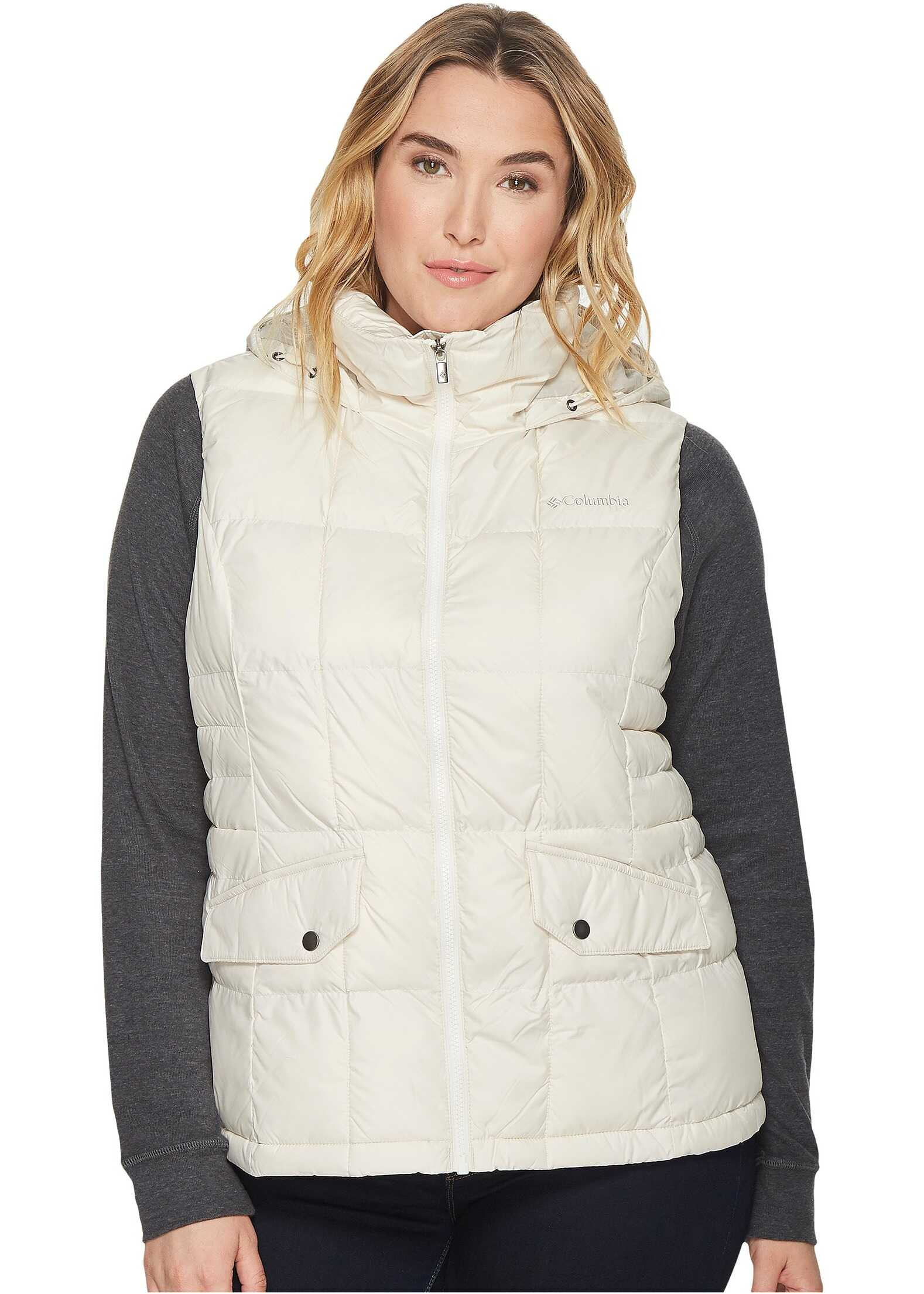 Columbia Plus Size Lone Creek Hooded Vest Chalk