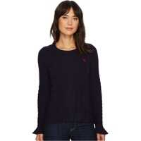 Pulovere Ruffle Sleeve Cable Knit Sweater Femei