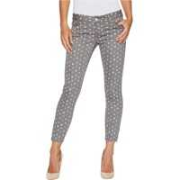 Blugi Skinny Ankle Brit Stretch Denim Jeans in Grey/Polka Dot Femei