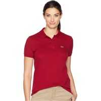 Tricouri Polo Short Sleeve Two-Button Classic Fit Pique Polo Femei