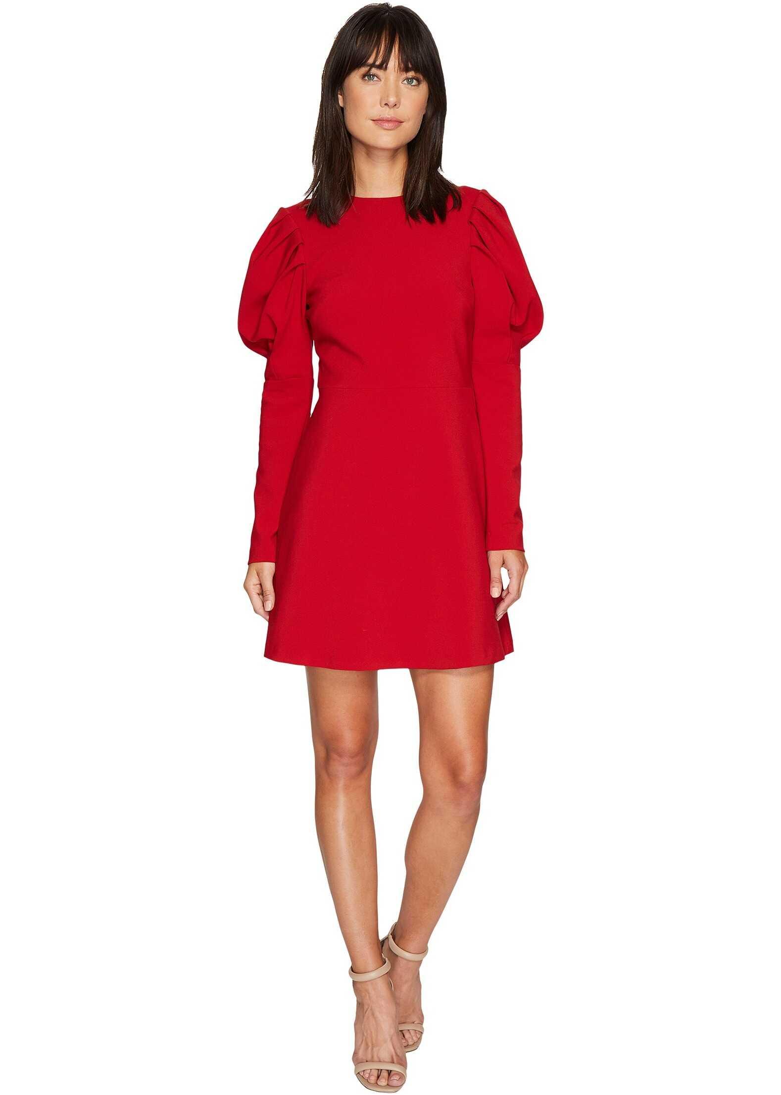Nicole Miller Karli Bold Shoulder Dress Red