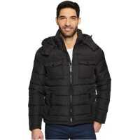 Geci de iarna Hooded Puffer with Patch Pocket Barbati