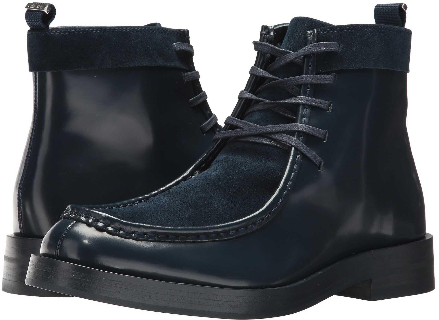Calvin Klein Rafi Dark Navy Box Leather/Calf Suede