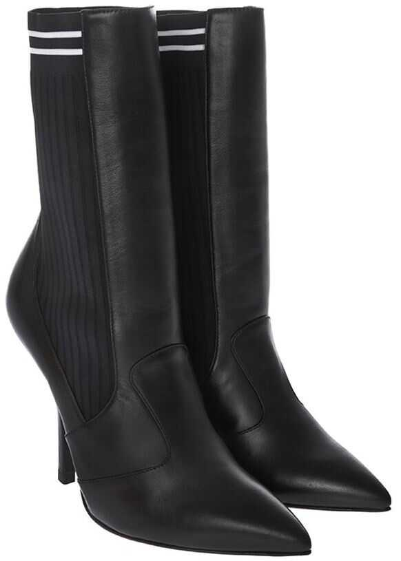Fendi Leather Ankle Boots* Black