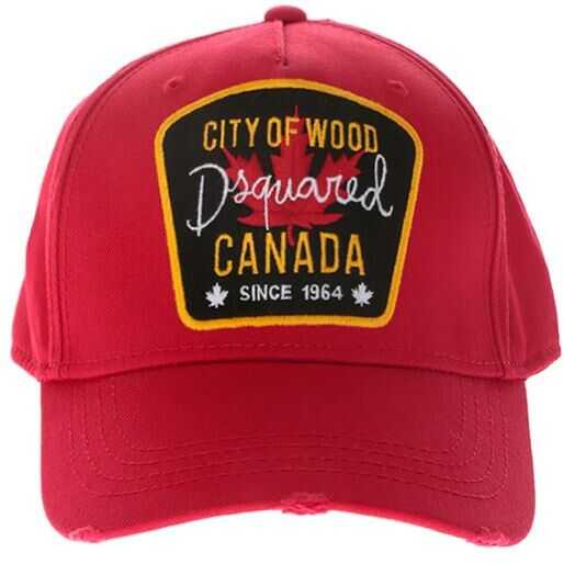DSQUARED2 Canada City Of Wood Patch Red Cap Red