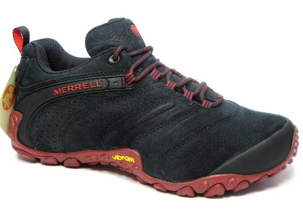 Merrell Chameleon II Leather Negre/Roșii