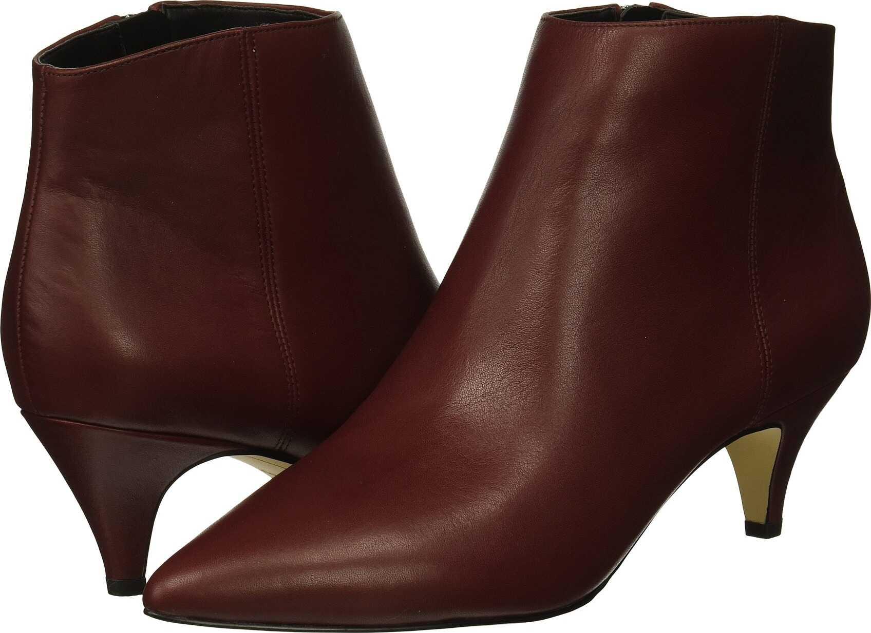 Sam Edelman Kinzey Beet Red Modena Calf Leather/Dakota Nappa