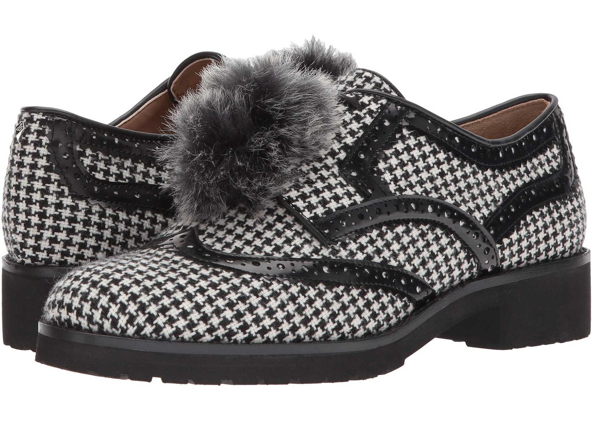 Sam Edelman Dahl Black/White Mini Houndstooth/Brush-Off Box Leather