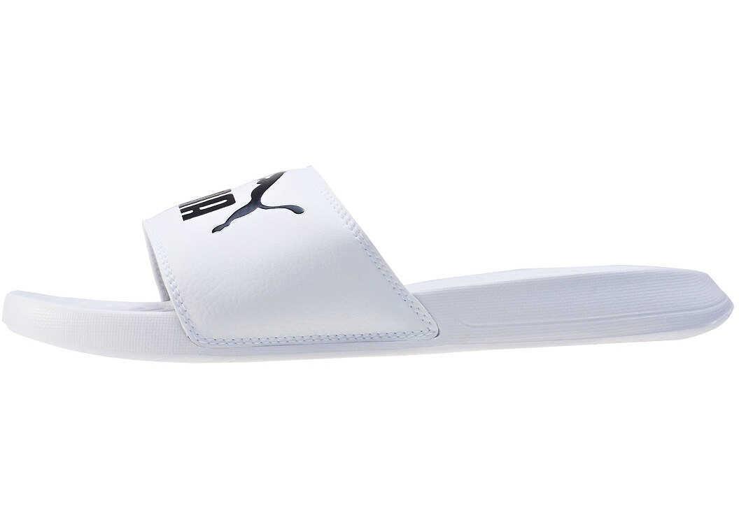 PUMA Popcat Slide In White Black White